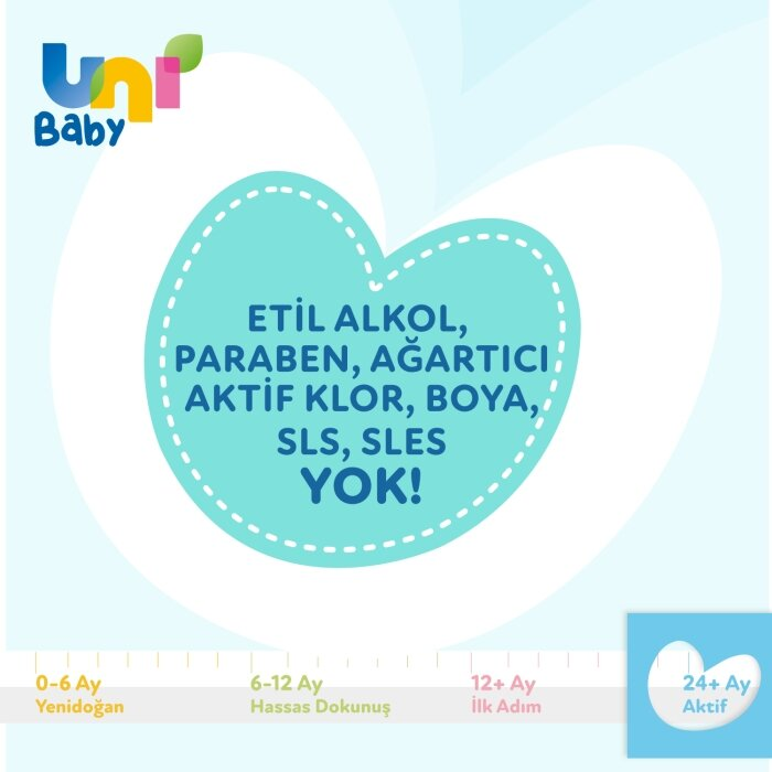Uni Baby Aktif Sıvı Çamaşır Deterjanı 3'lü 4500 ml
