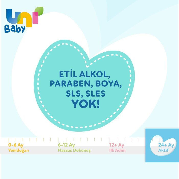 Uni Baby Aktif Islak Mendil 72 Yaprak