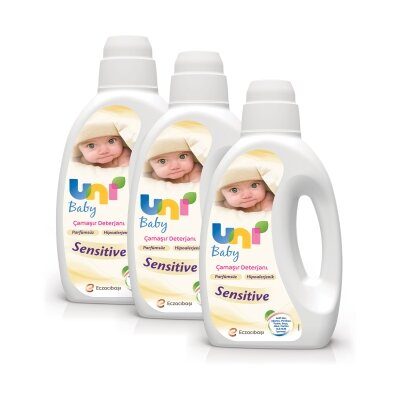 Uni Baby Sensitive Bebek Deterjanı 1000ml 3'lü