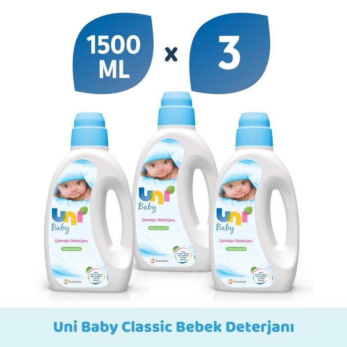 Uni Baby Çamaşır Deterjanı 1500 ml 3'lü