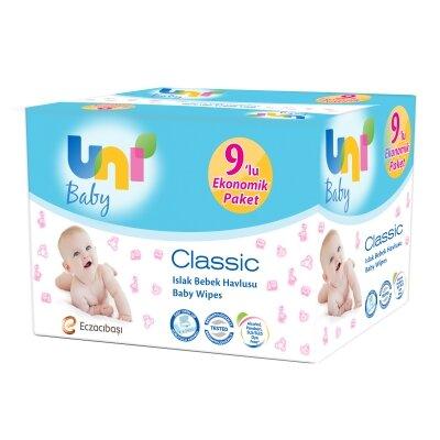 Uni Baby Classic Islak Havlu 9'lu 56 Yaprak