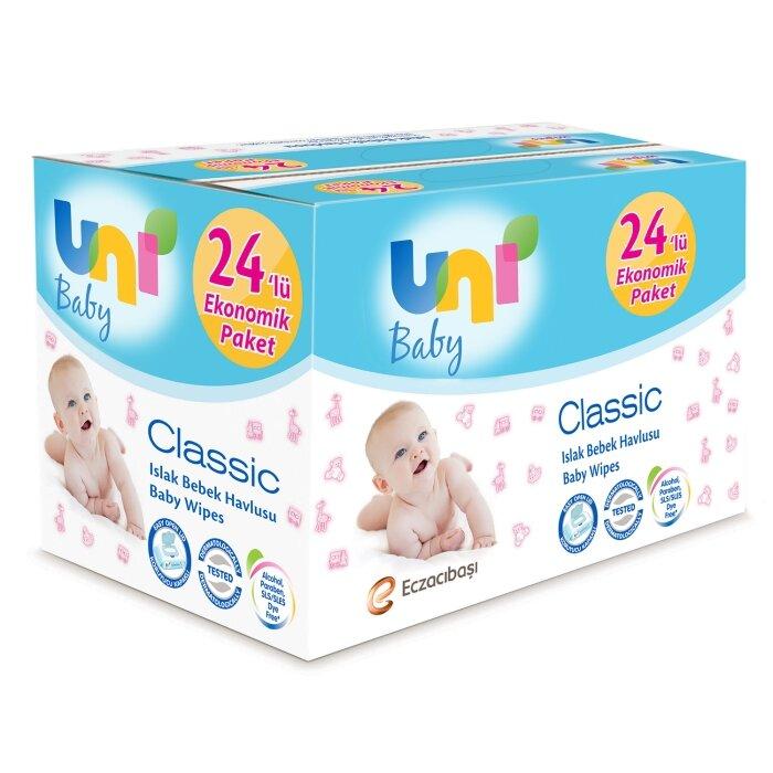 Uni Baby Classic Islak Havlu 24'Lü Fırsat Paketi (1344 Yaprak)