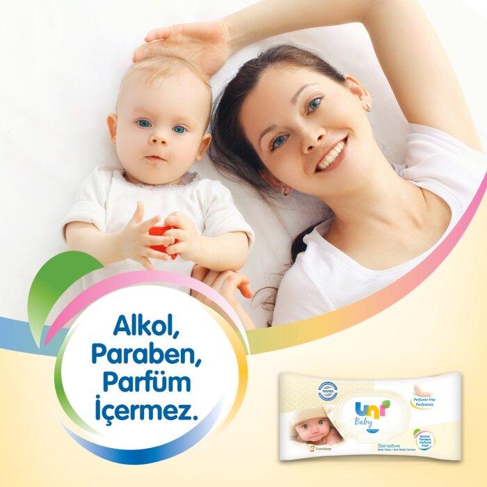 Uni Baby Sensitive Islak Havlu 12'li 672 Yaprak