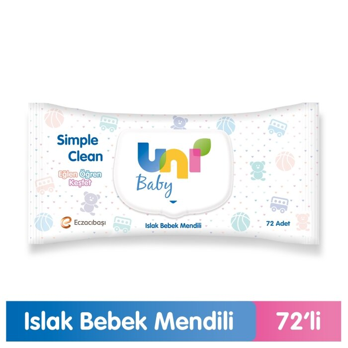 Uni Baby Islak Havlu Simple Clean 72 Yaprak