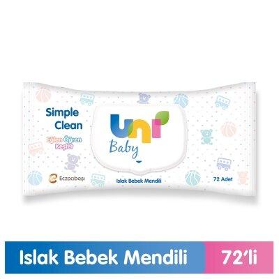 Uni Baby Islak Havlu Simple Clean 72 Yaprak