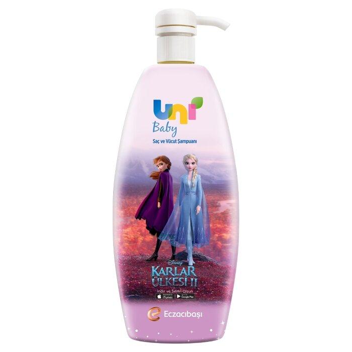 Uni Baby Karlar Ülkesi 2 Saç ve Vücut Şampuanı Pembe 700 ml