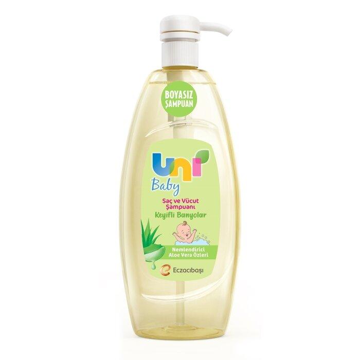 Uni Baby Keyifli Banyolar Saç ve Vücut Şampuanı 700 ml - Nemlendirici Aloe Vera Özleri