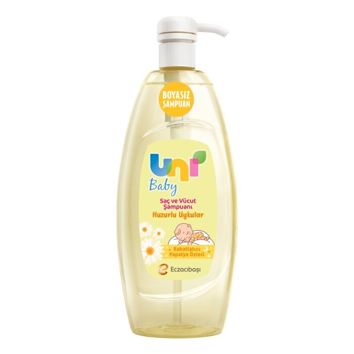 Uni Baby Huzurlu Uykular Saç ve Vücut Şampuanı 700 ml - Rahatlatıcı Papatya Özleri ile