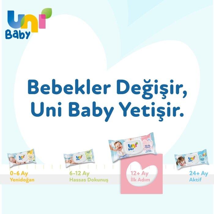 Uni Baby İlk Adım Islak Mendil 3'lü 156 Yaprak