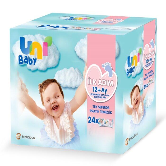 Uni Baby İlk Adım Islak Mendil 24'lü 1248 Yaprak