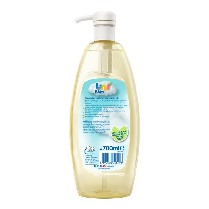 Uni Baby Keyifli Banyolar Saç ve Vücut Şampuanı 700 ml