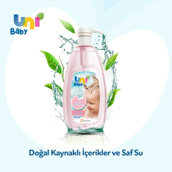 Uni Baby Kolay Tarama Saç ve Vücut Şampuanı 700 ml