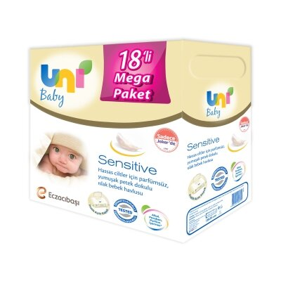 Uni Baby Sensitive Islak Havlu 18'li