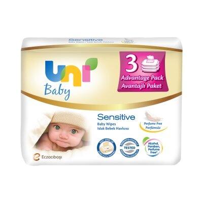 Uni Baby Sensitive Islak Havlu 3'lü