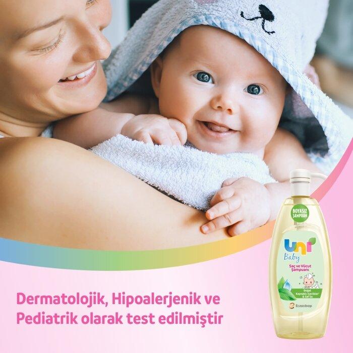 Uni Baby Saç ve Vücut Şampuanı 900 ml