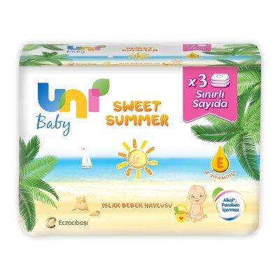 Uni Baby Sweet Summer 3'lü Islak Havlu