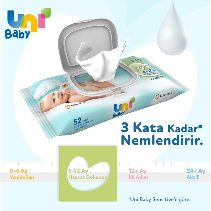 Uni Baby Hassas Dokunuş Islak Mendil 24'li 1248 Yaprak