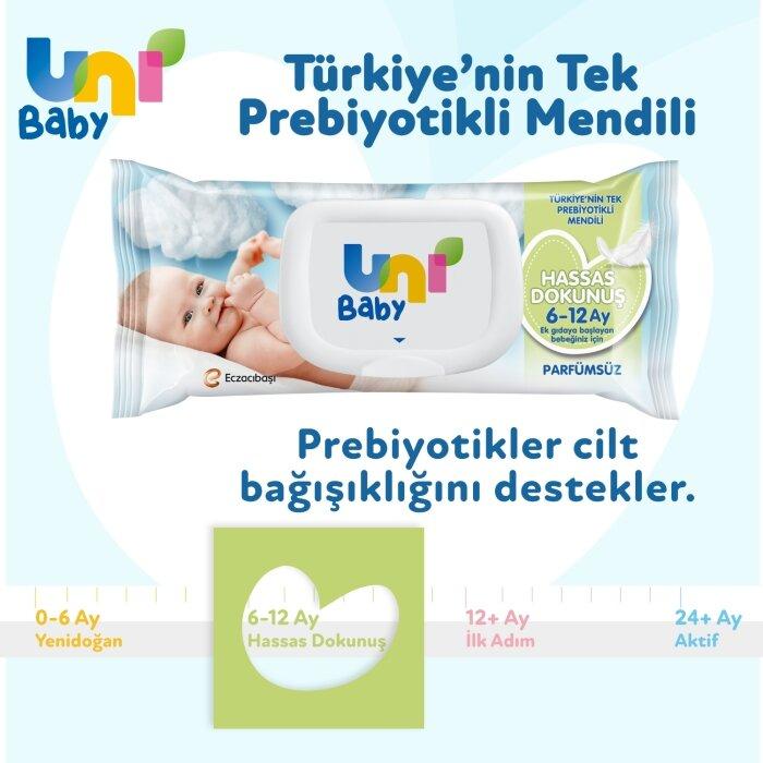 Uni Baby Hassas Dokunuş Islak Mendil 5'li 260 Yaprak