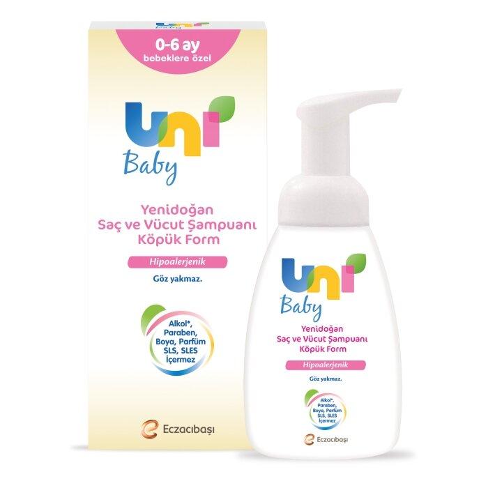 Uni Baby Yenidoğan Köpük Formlu Şampuan 200ML