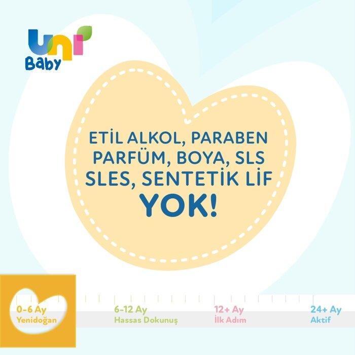 Uni Baby Yenidoğan Islak Mendil 3'lü 120 Yaprak