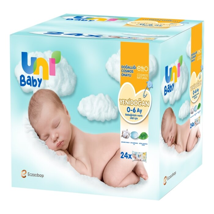 Uni Baby Yenidoğan Islak Mendil 24'li 960 Yaprak
