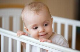 8 aylık bebek hareketleri artmaya başlar. Bebek bu ay yatar pozisyondayken oturur pozisyona tek başına geçmeye başlar.